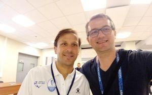 Gaizka Mendieta i novinar GOL.hr-a Ivica Medo (GOL.hr)