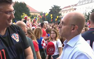 Andrej Plenković nakon utakmice (Video: Dnevnik Nove TV)