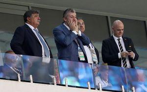 Ante Vučemilović-Šimunović, Davor Šuker i Gianni Infantino (Foto: Igor Kralj/PIXSELL)