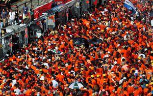 Nizozemski navijači slave pobjedu Maxa Verstappena u Austriji (Foto: XPB/Press Association/PIXSELL)