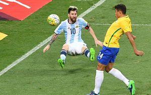 Thiago Silva i Lionel Messi (Foto: AFP)