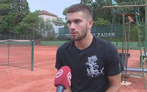 Borna Ćorić za Novu TV (Foto: GOL.hr)