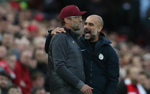 Jürgen Klopp i Pep Guardiola (Foto: Bradley Ormesher/News Syndication/PIXSELL)