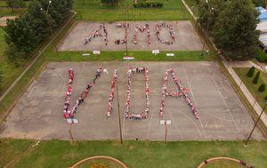 Učenici iz Donjeg Miholjca podržali našeg reprezentativca (Foto: OŠ August Harambašić)
