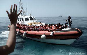 Aquarius, brod s migrantima koje je Italija odbila primiti (Foto: AFP)