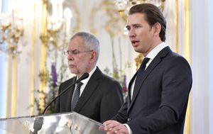Austrijski predsjednik Alexander Van der Bellen i kancelar Sebastian Kurz (Foto: AFP)