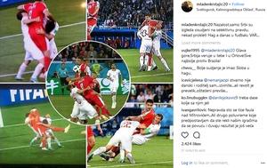 Poruka Mladena Krstajića (Screenshot: Instagram)