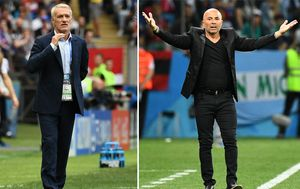 Didier Deschamps i Jorge Sampaoli (Foto: AFP)