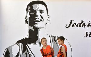 Mural Dražena Petrovića u Šibeniku (Foto: Dusko Jaramaz/PIXSELL)