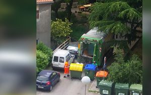 Prikupljanje otpada u Rijeci (Screenshot: Čitatelj)