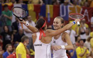 Francuskinje slave pobjedu u Fed Cupu (Foto: AFP)