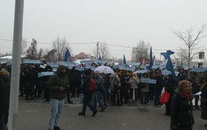 Prosvjed ispred Ministarstva znanosti i obrazovanja (Foto: Katarina Jusić)