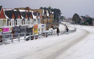 Snijeg u Cardiffu (Getty Images)
