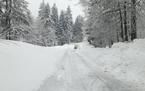 Snijeg u Delnicama (Foto: Marko Balen)