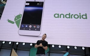 Android (Foto: AFP)