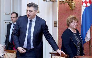 Andrej Plenković i Nada Murganić (Foto: Patrik Macek/PIXSELL)