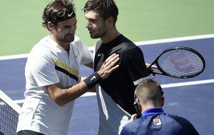 Roger Federer i Borna Ćorić (Foto: AFP)