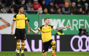 Razočarani igrači Borussije Dortmund (Foto: Tobias Hase/DPA/PIXSELL)