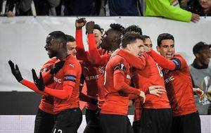 Rennes slavi pogodak protiv Arsenala (Foto: AFP)