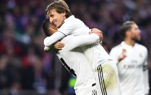 Luka Modrić slavi pogodak (Foto: AFP)