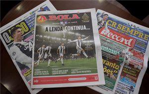 Naslovnice portugalskih novina (Foto: HINA/ Tomislav PAVLEK /tp)