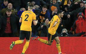 Raul Jimenez slavi gol (Foto: AFP)