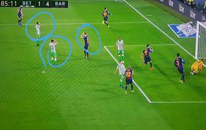 Reakcija igrača nakon Messijeva gola (Screenshot)