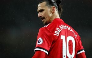 Zlatan Ibrahimović u dresu Man Utd-a (Foto: Martin Rickett/Press Association/PIXSELL)