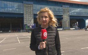 Anita Kajtazi Roth ispred stadiona Maksimir (Foto: GOL.hr)