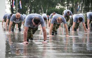 Vojnici na grupnom vježbanju (Foto: Filip Popović/Hrvatska vojska)