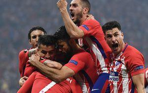 Slavlje igrača Atletica (Foto: AFP)