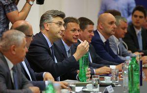 Andrej Plenković na predsjedništvu HDZ-a (Foto: Jurica Galoic/Pixsell)