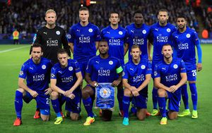 Leicester s Vardyjem i Mahrezom (Foto: Mike Egerton/Press Association/PIXSELL)
