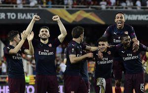 Arsenal slavi ulazak u finale Europske lige (Foto: AFP)