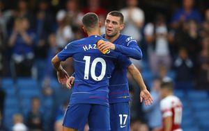 Eden Hazard i Mateo Kovačić (Foto: John Walton/Press Association/PIXSELL)