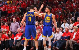 Klay Thompson i Stephen Curry (Foto: AFP)
