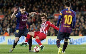 Antoine Griezmann, Clement Lenglet i Lionel Messi (Foto: AFP)