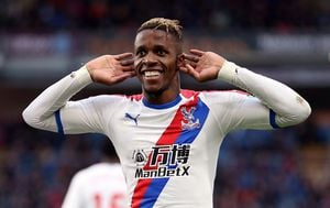 Wilfried Zaha (Foto: Nigel French/Press Association/PIXSELL)
