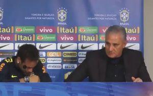 Neymar i izbornik Brazile Tite (Screenshot Twitter)