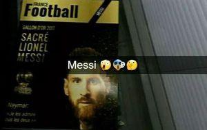 Messi na naslovnici France Footballa (Screenshot)