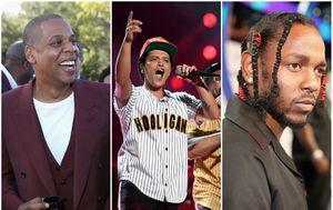 Jay Z, Bruno Mars, Kendrick Lamar (FOTO: Getty)