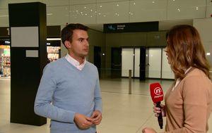 Šime Vičević na zagrebačkom aerodromu (Foto: Dnevnik.hr)
