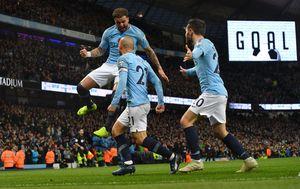 Slavlje igrača Manchester Cityja (Foto: Anthony Devlin/Press Association/PIXSELL)