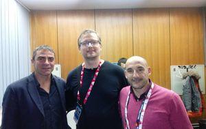 Manolo Sanchis, Ivica Medo i Albert Ferrer (Foto: GOL.hr)