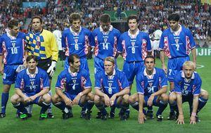 Vatreni koji su 1998. pobijedili Nizozemsku i osvojili broncu (Foto: AFP)