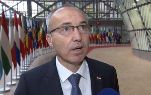 Ministar obrane Damir Krstičević u Bruxellesu (Foto: screenshot/YouTube/MORH)