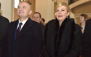Predsjednica Kolinda Grabar-Kitarovic i predsjednik Albanije Ilira Meta (Foto: Dino Stanin/PIXSELL)