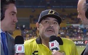 Diego Maradona daje intervju (Screenshot)