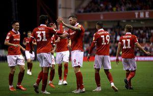 Slavlje igrača Nottingham Forresta (Foto: Tim Goode/Press Association/PIXSELL)
