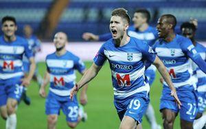 Mihael Žaper slavi pobjednički pogodak protiv Rijeke (Foto: Davor Javorović/PIXSELL)